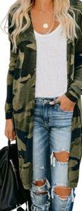 NWT Plus Size Long Camo Cardigan